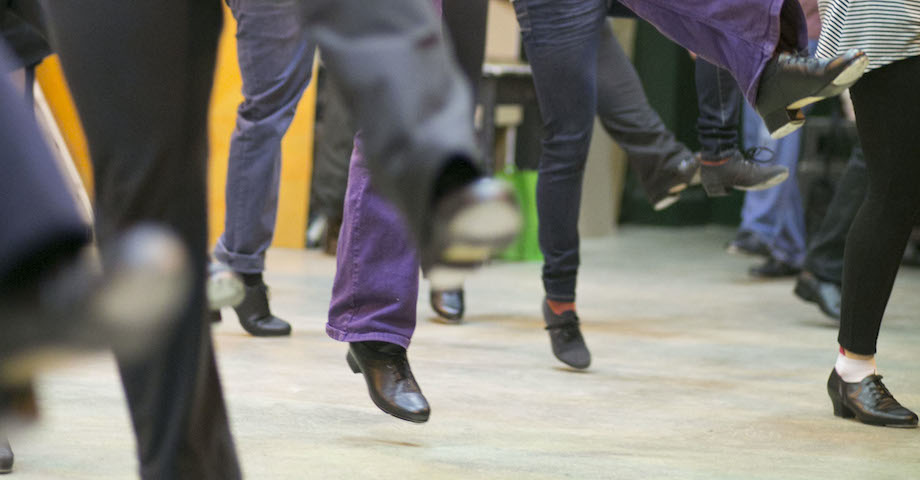 Feet in the air - Tap Dance Class in Bristol